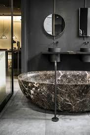 Marmor Badezimmer Schwarz Grau Braun Spiegel Schwarze Badarmaturen
