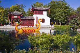 photo montreal botanical chinese garden quebec canada