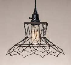 country new vintage wire hanging light plug in light nice