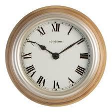 hometime deep case wall clock with roman numerals 15476 p jpg