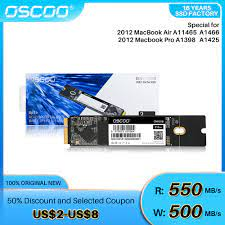 OSCOO SATA SSD 1TB Only for Macbook Pro 2010 2012 128GB 256GB 512GB Solid  State Drive|Internal Solid State Drives