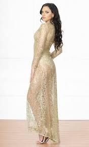 Indie Xo Adoring Fan Gold Sequin Glitter Swirl Long Sleeve Mock