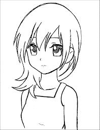 Manga Coloring Pages Anime Art Manga Girl Drawing Anime Girl