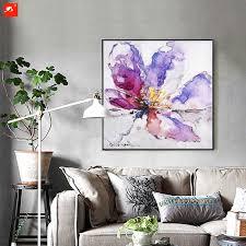 Us 199 Aquarell Frühling Blume Lilie Malerei Wandkunst Leinwanddruck ölgemälde Für Wohnzimmer Esszimmer Und Schlafzimmer Wanddekoration In Malerei