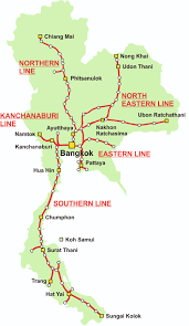 thailand train map Northern Train Line Map thailand railway map northern train line map