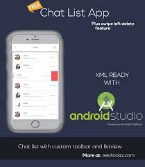 Chat Ui Design Android Chat List Template Xml Free Android Designs Awesome Listview