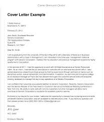 Example Of A Resume Cover Letter Format Of Resume Letter Resume