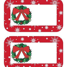 Christmas Gift Labels Templates Word Blank Christmas Gift Tag Template