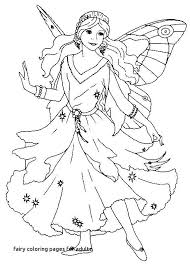 Fairy Coloring Pages For Adults Of Fairies Adult 9 Book Anime A