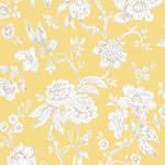 yellow and grey floral wallpaper