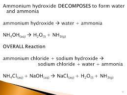ammonium chloride equation jennarocca 3 ammonium chloride water