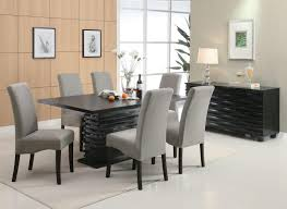 Silver Dining Room Set Dining Room Table Chairin Inspiration Remodel Popular Parsons