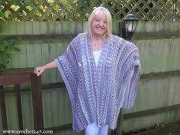 Free Crochet Ruana Pattern