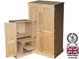 hideaway home office. Solid Pine Desk, 4 Door Computer Workstation, Hideaway, Hidden Home Office  Cabinet, Hideaway E