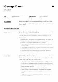 Office Clerk Resume Resumeviking Com