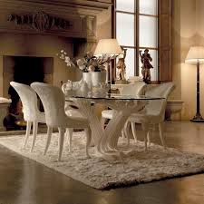 luxury dining furniture. exclusive italian pedestal large glass dining table set luxury furniture