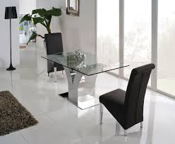 modern dining room set glass top table