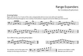 Baritone Scale Chart Brass Teaching Materials Dale Sorensens Blog