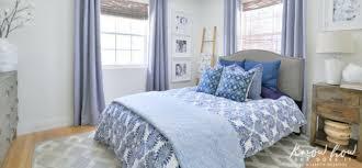 bedroom refresh with indigo artisan patterns