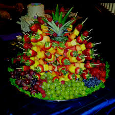 Pineapple Tree Fruit Display  Party Ideas  Pinterest  Fruit Fresh Fruit Tree Display