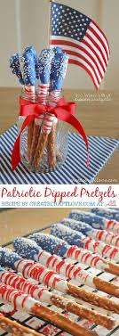 Fourth of July Dessert - Dipped Pretzels