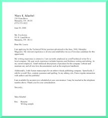 Written Cover Letters Cover Letter Format For Technical Writer Cover