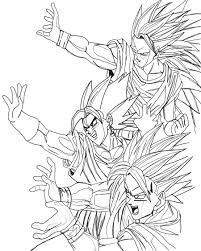 Songoku And Vegeto Dragon Ball Z Kids Coloring Pages