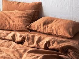 rust linen duvet cover