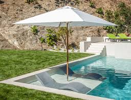 In pool furniture Above Ground Related Products Pool Furniture Supply Bradley Terrace Santa Barbara Umbrella Riviera Teak With Inpool