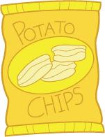 bag of potato chips clipart.  Clipart Clipart Potato Chips Bags To Bag Of Potato Chips T