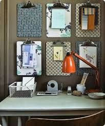 decorate office at work. tidy by decorating your walls with pretty clipboards clip all those loose papers out of way instead leaving them to clutter work space decorate office at r