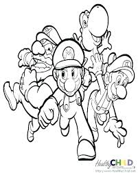 Mario Brothers Coloring Page