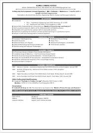Automotive Engineer Sample Resume Ajrhinestonejewelry Com