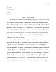 treaty of versailles dbq outline thesis although the division of  2 pages dbq treaty of versailles essay