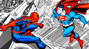 Superman coloring pages for kids. Superman Vs Spiderman Coloring Pages Just For Kids Video Dailymotion