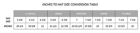 Hat Size Conversion Chart 70 Problem Solving Large Hat Size Chart