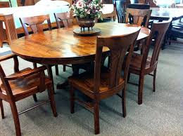 simple dining table room decoration using cherry wood pedestal oval solid round designs