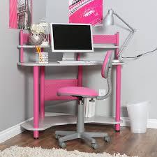 ... Desk, Corner Student Desk Student School Desks Pink And Grey Desk With  Stationery Box Computer ...