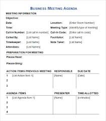 Business Meeting Agenda Template 40 Download Free Documents In PDF Gorgeous Business Meeting Agenda Format