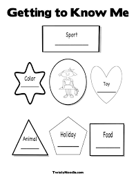 All About Me Colouring Pages All About Me Coloring Pages To