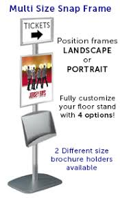 Multiple Poster Display Stands EuroStyle Information POSTOSTAND Multi Size Snap Frames with 88