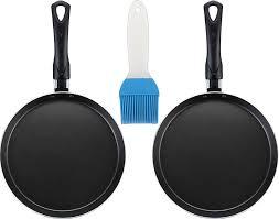 <b>сковорода блинная</b> 22 см (2 штуки) и кисточка 20х5,5х1 см <b>Elan</b> ...