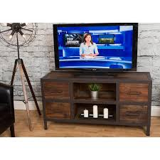 Rustic Brown Wooden 55 Inch TV Stand - Brixton   RC Willey Furniture Store