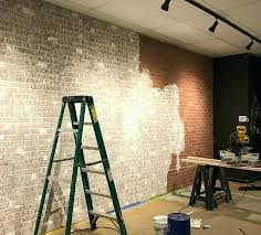 faux brick wall this easy project will give you the look of an old exposed brick
