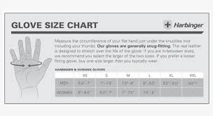Harbinger Fitness Glove Size Chart Images Gloves And