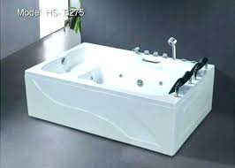 2 person bathtub whirlpool jetted hot tub shower combo