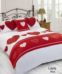 layla bed in a bag duvet cover set red