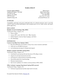 College Student Resume Format Valid Resume Format Samples Download