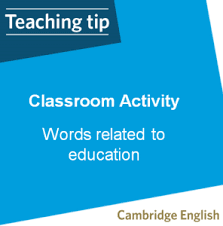 Classroom Activity Vocabulary Activities Words Related To