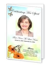 In Memoriam Template Best Top Funeral Program Designs Images On